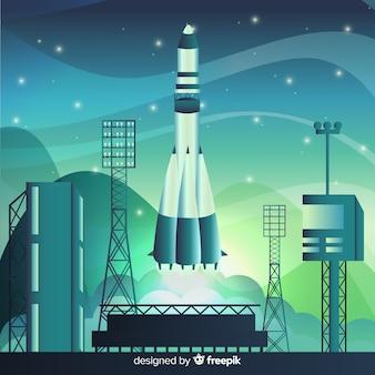 Градиентная ракета на стартовой площадке