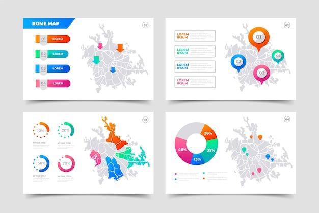 Gradiente infografica mappa roma