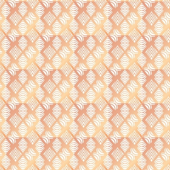 Gradient rose gold art deco seamless pattern