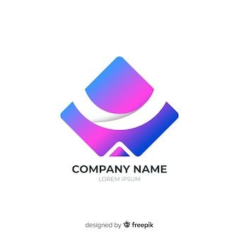 Gradient rounded abstract business logotype