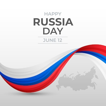 Gradient russia day illustration Free Vector