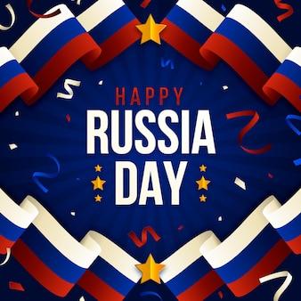 Gradient russia day illustration