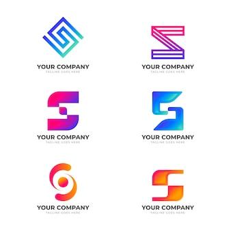 グラデーションのロゴテンプレートコレクション
