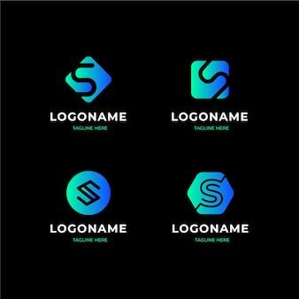 Коллекция шаблонов логотипов gradient s
