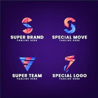 그라디언트의 로고 템플릿 컬렉션