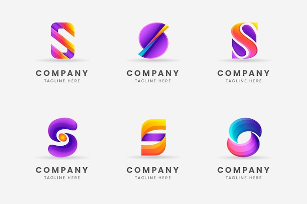 Gradient s logo template collection
