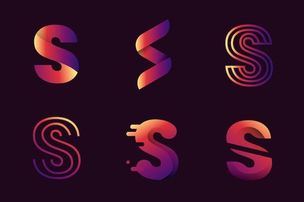 Шаблоны логотипов градиента s