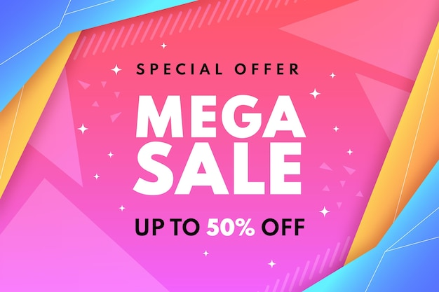 Gradient sale background with special discount