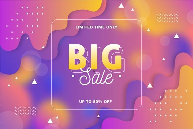 Gradient sale background