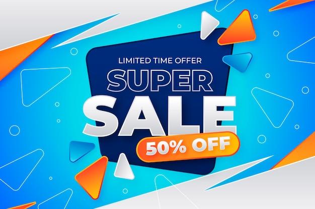 Gradient sale background Free Vector
