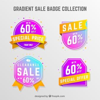 그라데이션 판매 배지 컬렉션