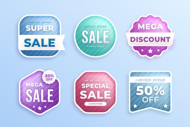 Gradient sale badge set