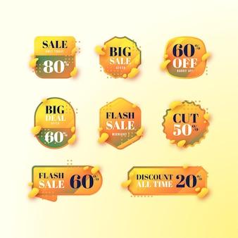 Gradient sale badges collection