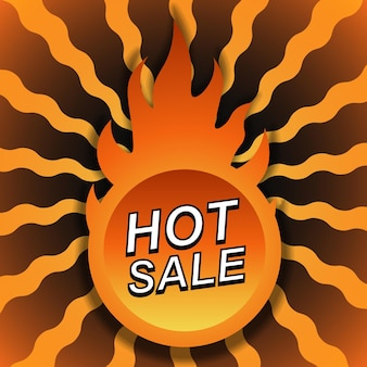 Gradient sale banner background with fire. vector illustration. abstract background.