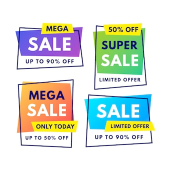 Gradient sale banner collection