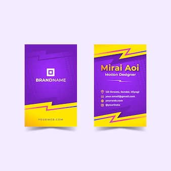 Gradient sale double-sided business card template