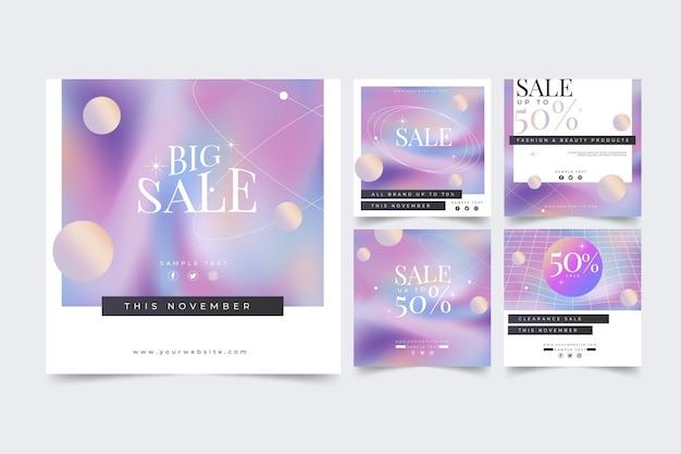 Gradient sale ig post collection