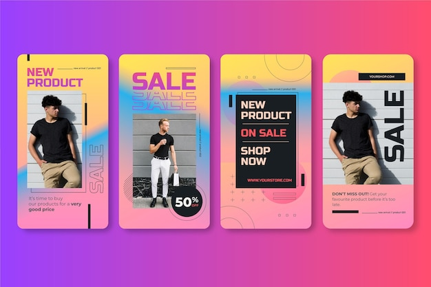 Gradient sale instagram post collection with photo