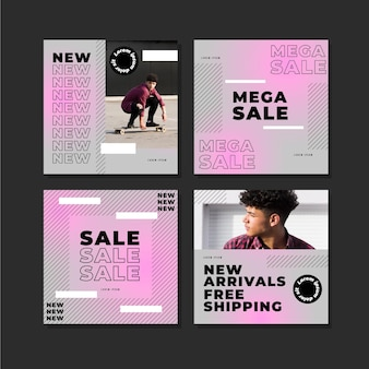Gradient sale instagram posts