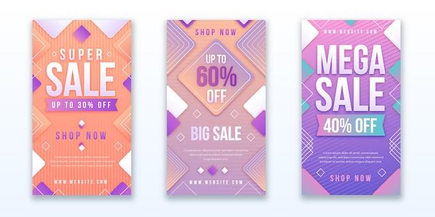 Набор градиентных продаж instagram рассказов