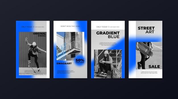 그라디언트 판매 인스 타 그램 스토리 컬렉션