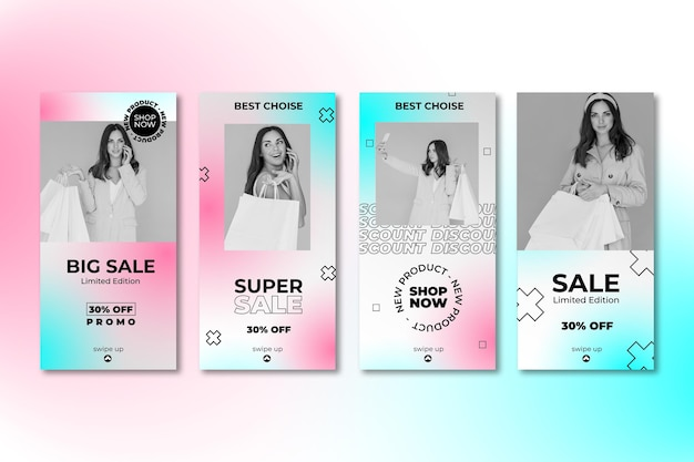 Gradient sale instagram story collection