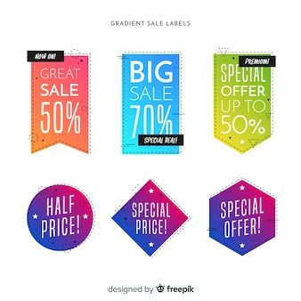 Gradient sale label collection