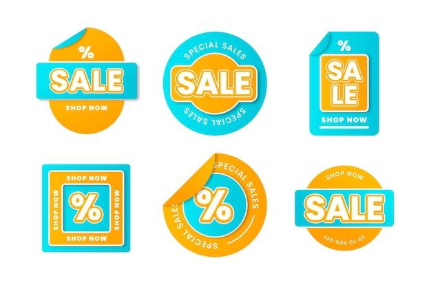 Gradient sale labels collection