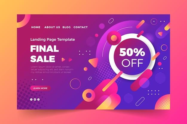 Gradient sale landing page template