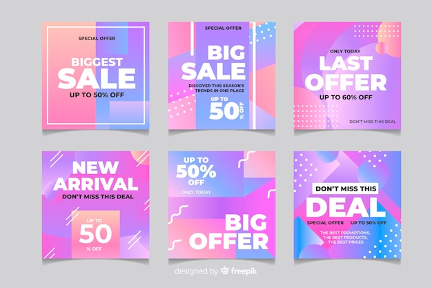 Gradient sale offers post for instagram
