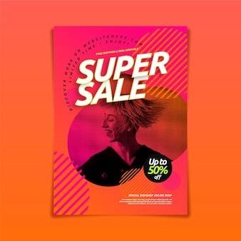 Poster di vendita sfumato con foto