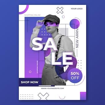 Постер с градиентной распродажей с фото