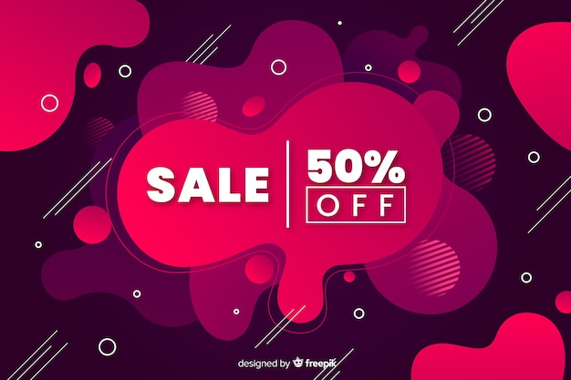 Gradient sales background fluid effect