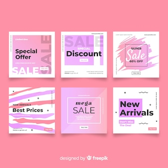 Gradient sales banner collection