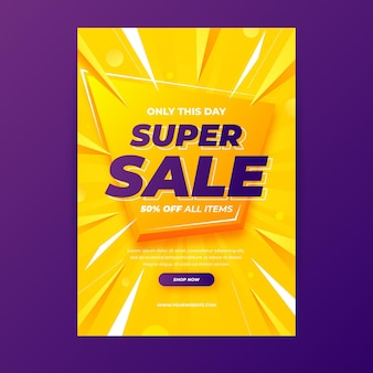 Gradient sales poster template