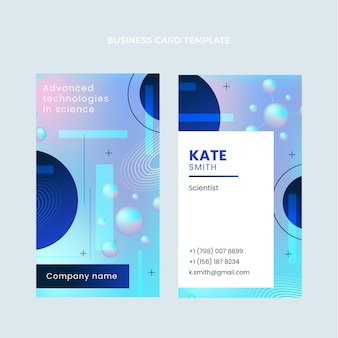 Gradient science business card