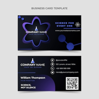Gradient science horizontal business card