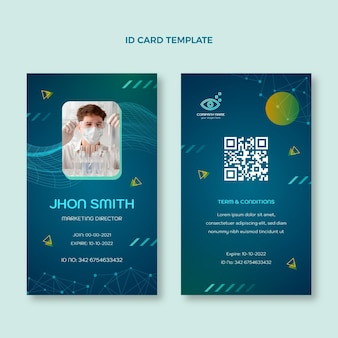 Gradient science id card template
