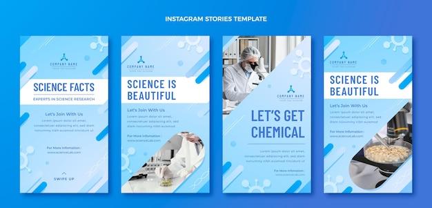 Gradient science instagram stories