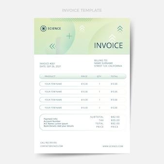 Gradient science invoice template