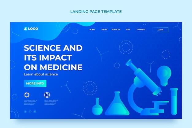 勾配科学のランディングページ