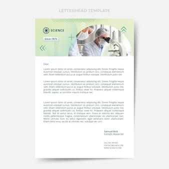 Gradient science letterhead template
