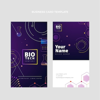 Gradient science vertical business card