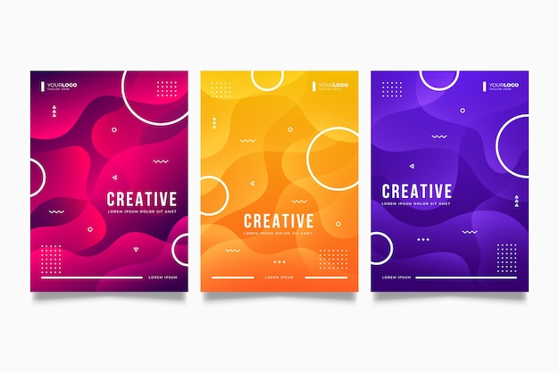 Gradient shapes cover collection