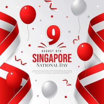Градиент национальный день сингапура иллюстрация