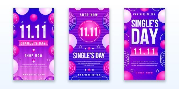 그라디언트 싱글의 날 인스타그램 스토리 모음