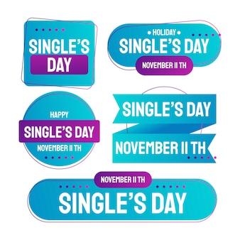 Коллекция дневных этикеток градиентного сингла