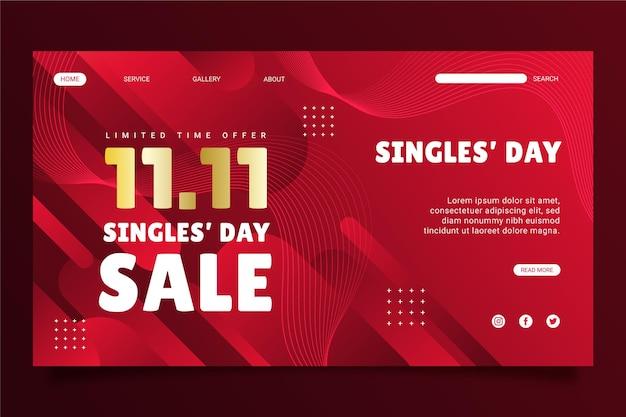 Шаблон целевой страницы gradient single's day