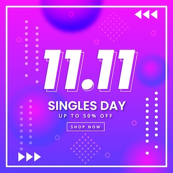 Gradient singles day concept