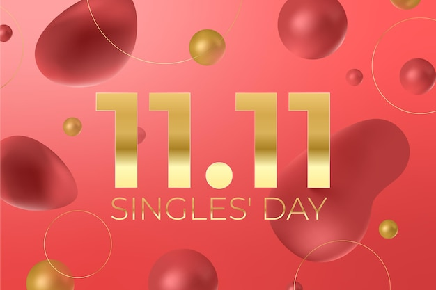 Gradient singles day holiday background